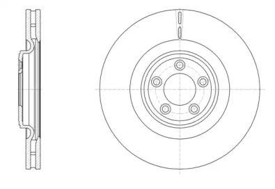 Вентилируемый передний тормозной диск на JAGUAR XK 'ROADHOUSE 61511.10'.