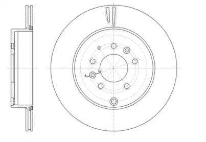 Вентилируемый задний тормозной диск на Мазда СХ9 'ROADHOUSE 61402.10'.