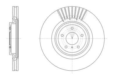 Вентилируемый передний тормозной диск на NISSAN 370Z 'ROADHOUSE 61508.10'.