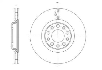 Вентилируемый передний тормозной диск на JEEP RENEGADE 'ROADHOUSE 61427.10'.