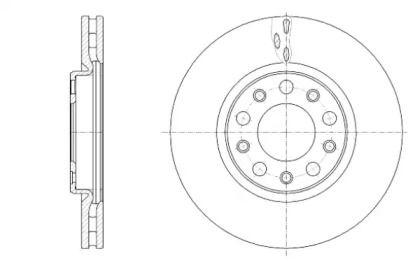 Вентилируемый передний тормозной диск на Фиат 500Х 'ROADHOUSE 61389.10'.