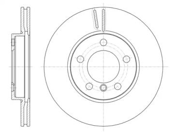 Вентилируемый передний тормозной диск на MINI PACEMAN 'ROADHOUSE 61439.10'.
