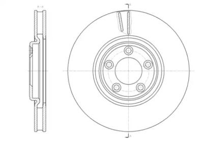 Вентилируемый передний тормозной диск на Ягуар ХЖ 'ROADHOUSE 61431.10'.