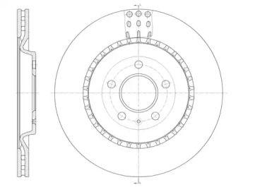 Вентилируемый задний тормозной диск на Ауди Ку7 'ROADHOUSE 61492.10'.