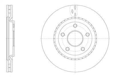 Вентилируемый передний тормозной диск на LANCIA VOYAGER 'ROADHOUSE 61515.10'.