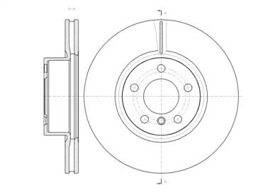 Вентилируемый передний тормозной диск на BMW X4 'ROADHOUSE 61454.10'.