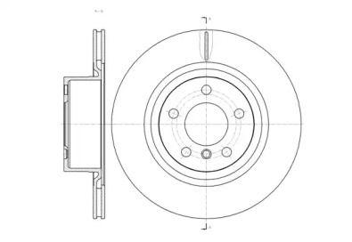 Вентилируемый задний тормозной диск на БМВ Х3 'ROADHOUSE 61455.10'.