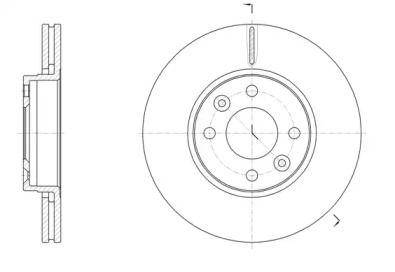 Вентилируемый передний тормозной диск на RENAULT ZOE 'ROADHOUSE 61474.10'.