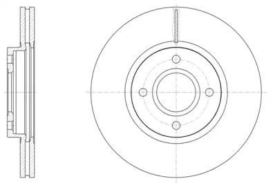 Вентилируемый передний тормозной диск на FORD TOURNEO COURIER 'ROADHOUSE 61502.10'.