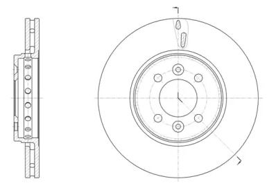 Вентилируемый передний тормозной диск на CHEVROLET EXPRESS 'ROADHOUSE 61499.10'.