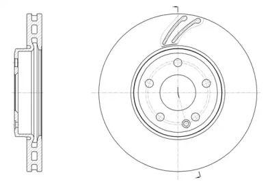 Вентильований передній гальмівний диск на Mercedes-Benz GLA  ROADHOUSE 61527.10.