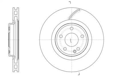 Вентилируемый передний тормозной диск на MERCEDES-BENZ CLA 'ROADHOUSE 61524.10'.