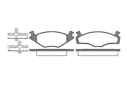 Передняя тормозные колодки на SEAT TOLEDO 'REMSA 0171.10'.
