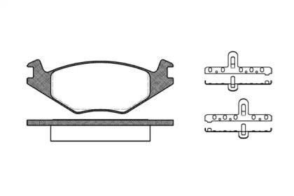 Передняя тормозные колодки на Фольксваген Джетта 'REMSA 0171.20'.