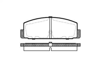 Заднї гальмівні колодки на MAZDA RX-7 'REMSA 0179.30'.