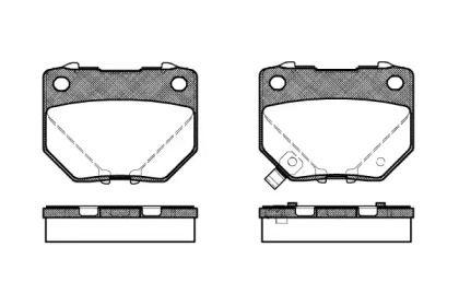 Задняя тормозные колодки 'REMSA 0365.21'.