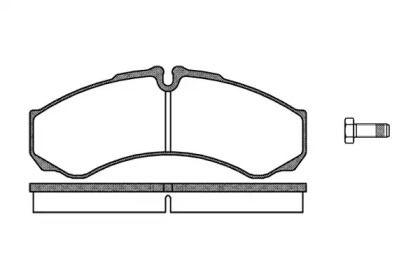 Передние тормозные колодки 'REMSA 0651.10'.