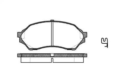 Переднї гальмівні колодки 'REMSA 0699.00'.