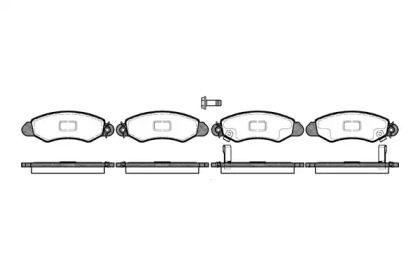 Передняя тормозные колодки 'REMSA 0702.02'.