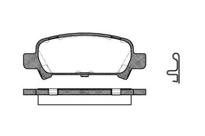 Задние тормозные колодки 'REMSA 0729.02'.
