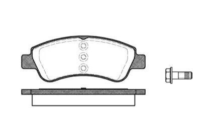Передняя тормозные колодки 'REMSA 0840.20'.