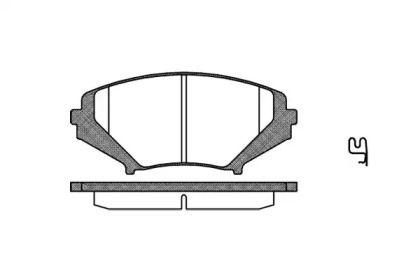 Переднї гальмівні колодки на Мазда РХ8 'REMSA 1080.01'.