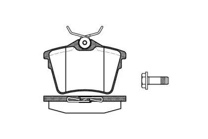 Задние тормозные колодки REMSA 1103.00.