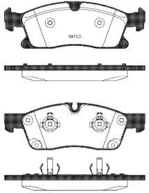 Переднї гальмівні колодки на Мерседес ГЛЕ  REMSA 1430.10.
