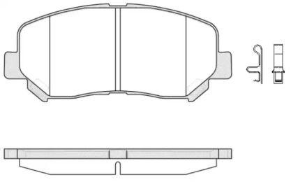 Переднї гальмівні колодки на Мазда СХ5 REMSA 1513.02.