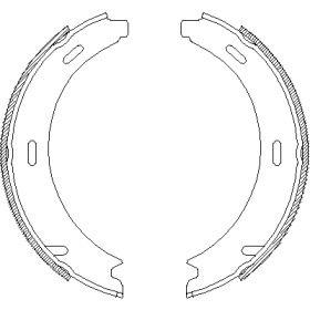 Тормозные колодки ручника на VOLKSWAGEN PASSAT REMSA 4093.00.