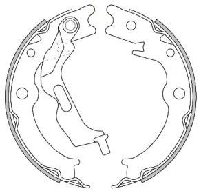 Гальмівні колодки ручника 'REMSA 4627.00'.