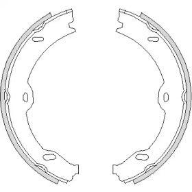 Гальмівні колодки ручника на Mercedes-Benz W211 REMSA 4708.00.