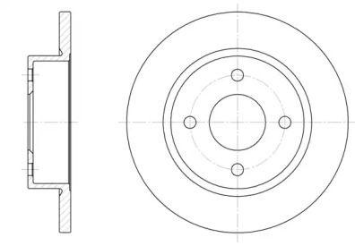 Передний тормозной диск на Ниссан Микра 'REMSA 6047.00'.