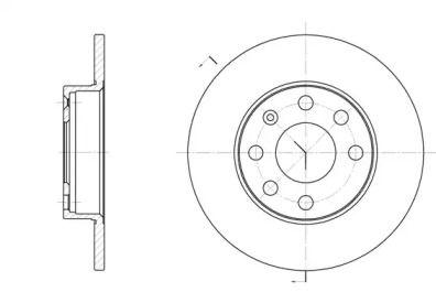Передний тормозной диск на Опель Зафира 'REMSA 6057.00'.