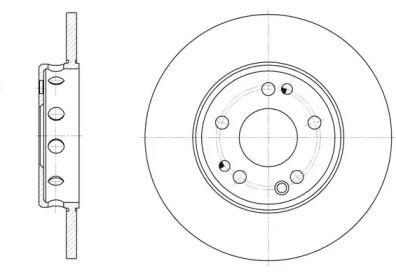 Передний тормозной диск 'REMSA 6059.00'.