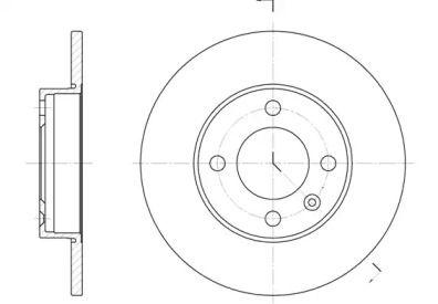 Передний тормозной диск на Фольксваген Дерби 'REMSA 6086.00'.