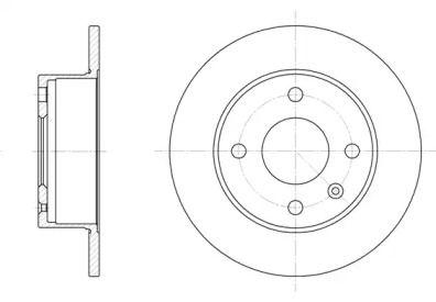 Передний тормозной диск на Форд Ескорт 'REMSA 6095.00'.
