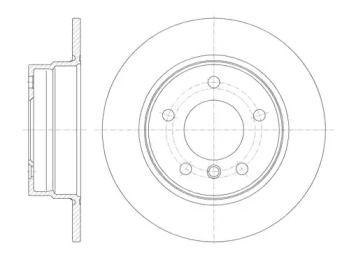 Задний тормозной диск на БМВ 1 REMSA 61013.00.
