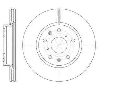 Вентилируемый передний тормозной диск на Фиат Седичи 'REMSA 61018.10'.