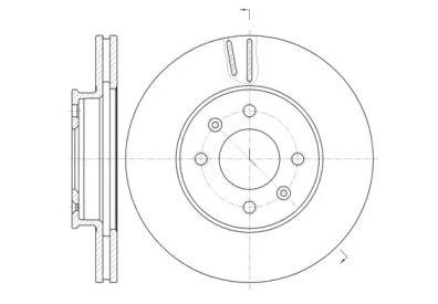 Вентилируемый передний тормозной диск на Сузуки Гранд Витара 'REMSA 61023.10'.