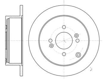 Задний тормозной диск на HYUNDAI IX55 'REMSA 61024.00'.