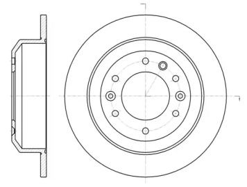 Задний тормозной диск на KIA CARNIVAL 'REMSA 61027.00'.