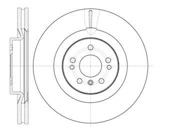 Вентильований передній гальмівний диск на Mercedes-Benz Gl-Class  REMSA 61030.10.