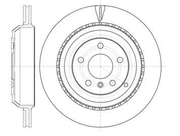 Вентилируемый задний тормозной диск на Мерседес ГЛ класс 'REMSA 61031.10'.