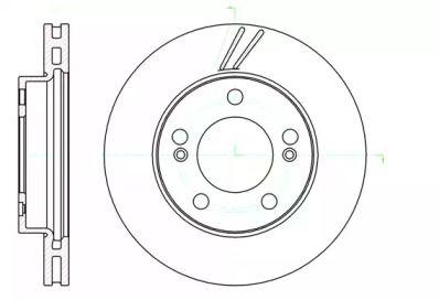 Вентилируемый передний тормозной диск на SSANGYONG RODIUS 'REMSA 61040.10'.