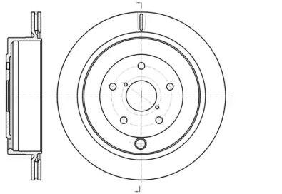 Вентилируемый задний тормозной диск на SUBARU TRIBECA 'REMSA 61042.10'.