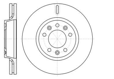 Вентилируемый передний тормозной диск на TOYOTA PROACE 'REMSA 61052.10'.