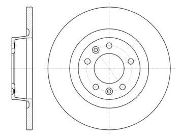 Задний тормозной диск на Тайота Проас 'REMSA 61053.00'.