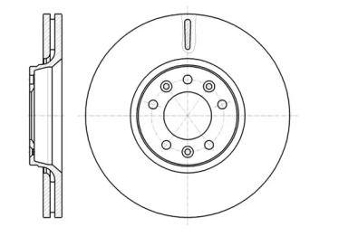 Вентилируемый передний тормозной диск на Тайота Проас 'REMSA 61054.10'.