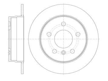 Задний тормозной диск на Мерседес Б класс 'REMSA 61065.00'.